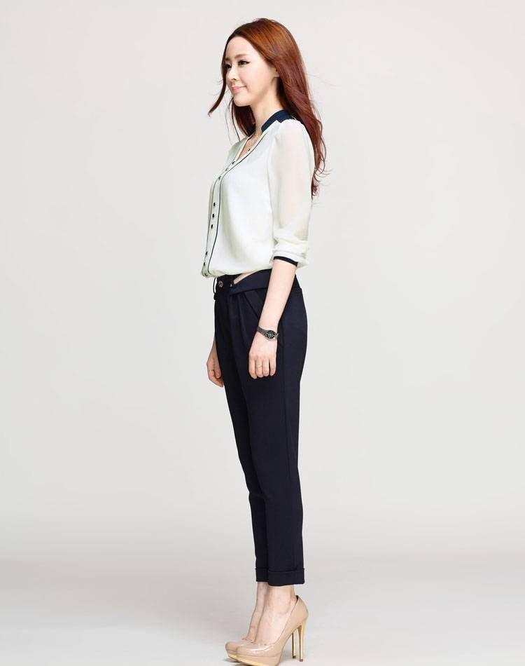 So với các trang phục khác thì sơmi cùng quần tây hay váy có tính ứng dụng cao và phù hợp với nhiều vóc dáng hơn