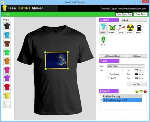 phần mềm thiết kế Free Shirt Maker