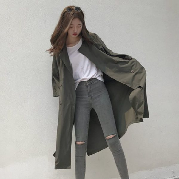 áo khoác kaki oversize nữ
