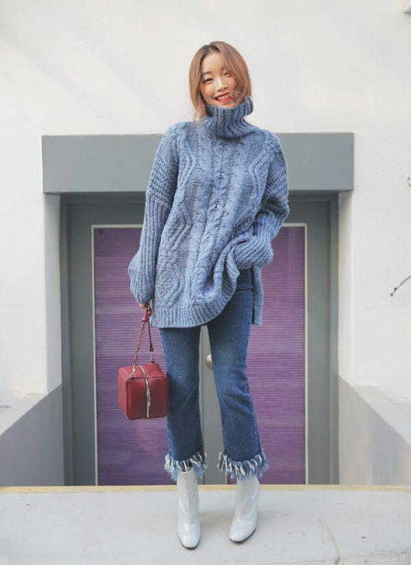 áo khoác len oversize nữ