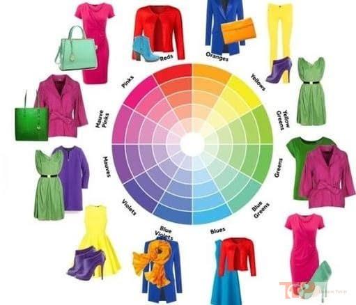bảng màu phối quần áo tiêu biểu