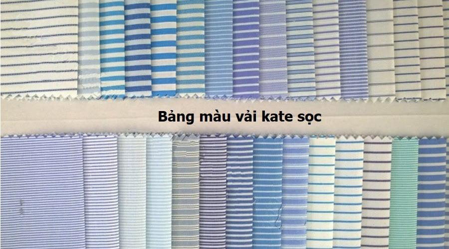 bảng màu vải kate