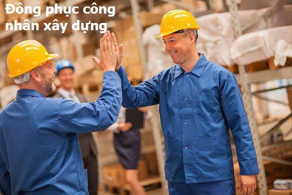 mẫu áo công nhân xây dựng