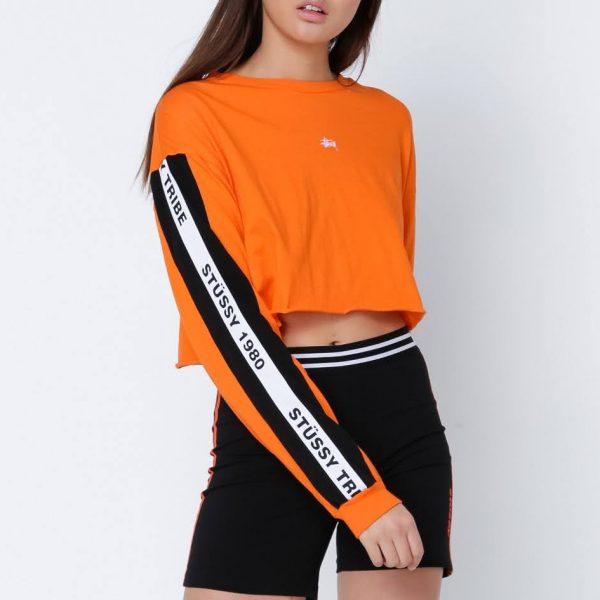 áo crop top màu cam