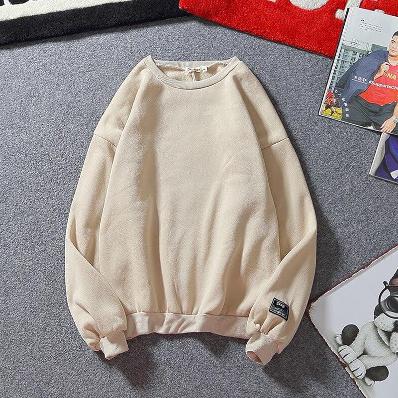 mẫu áo hoodie không mũ đẹp