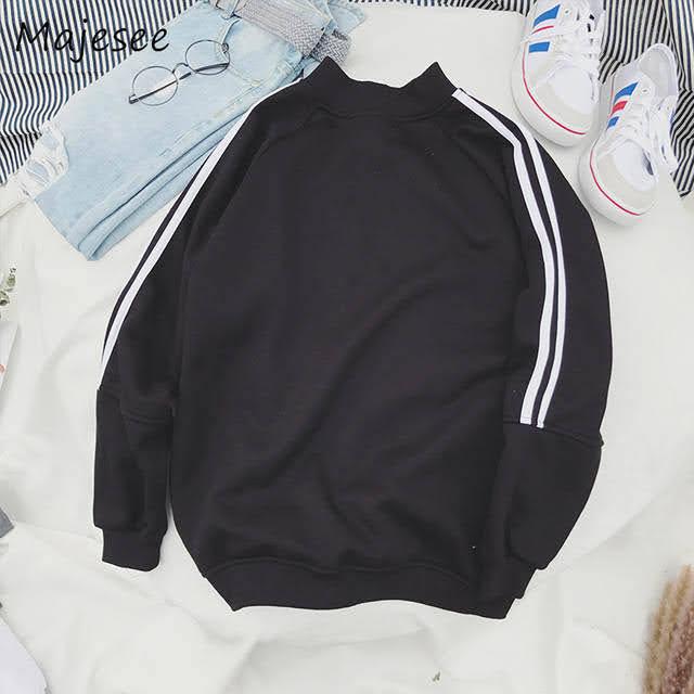 áo hoodie đen sọc trắng