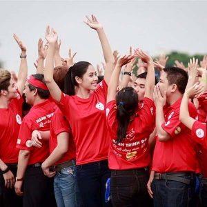 áo thun đồng phục sự kiện màu đỏ mẫu 02
