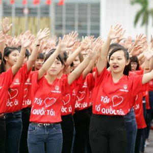 áo thun đồng phục sự kiện màu đỏ mẫu 03