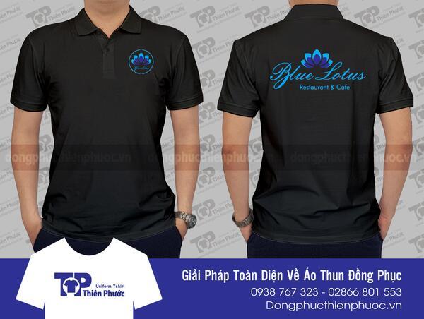 áo thun quảng cáo giá rẻ blue lotus
