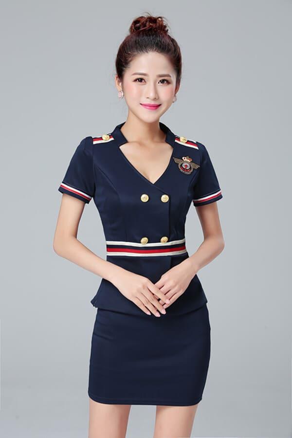 Áo thun quảng cáo màu xanh đen