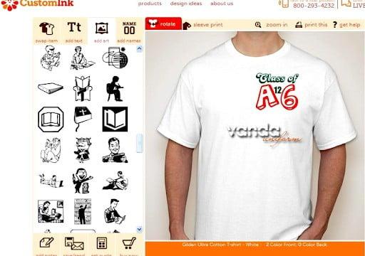 phần mềm thiết kế áo team online