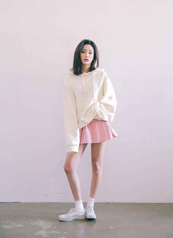 áo hoodie phối chân váy - Đồng Phục Thiên Phước