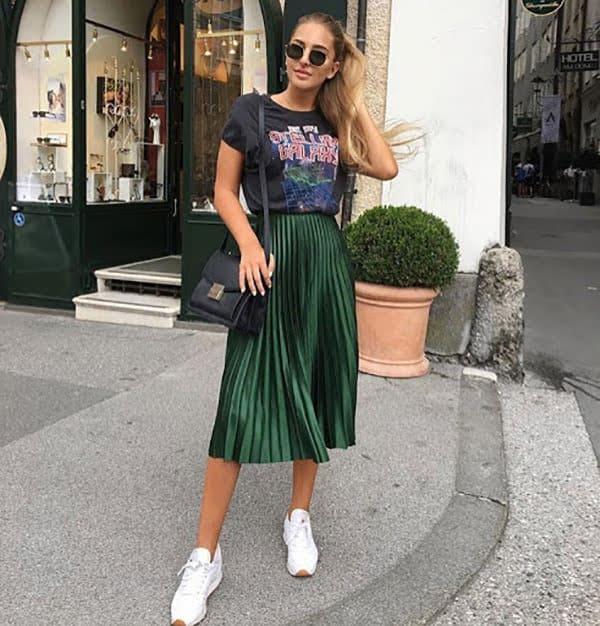 áo pull nữ với chân váy