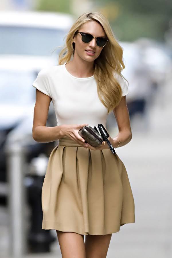 áo pull với chân váy
