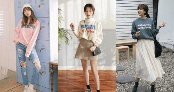 áo sweater phối váy và quần - Đồng Phục Thiên Phước