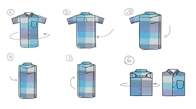Các bước đơn giản xếp áo sơ mi nhanh