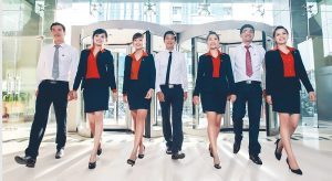 đồng phục ngân hàng Sacombank - Đồng Phục Thiên Phước