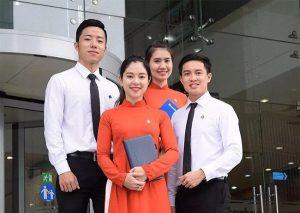 đồng phục sacombank - Đồng Phục Thiên Phước
