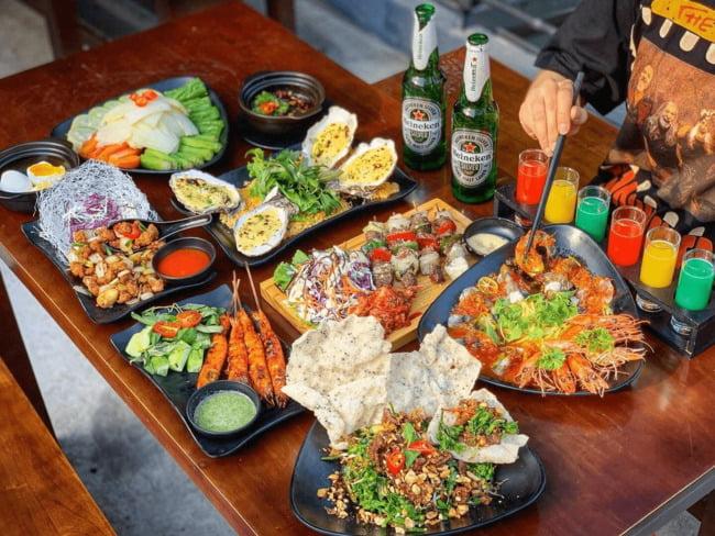 Thức ăn tại các quán nhậu nên phong phú, đa dạng và đảm bảo vệ sinh.