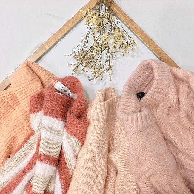 Các trang phục may bằng len rất dễ xù lông