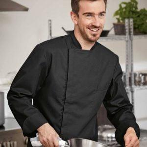 Áo bếp nam màu đen