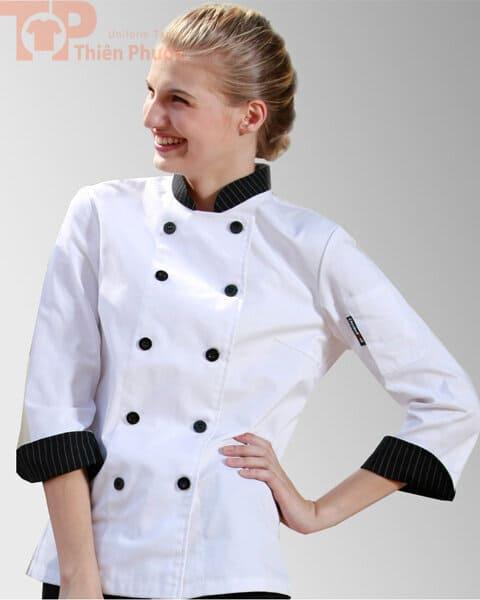 Áo bếp nữ tay dài