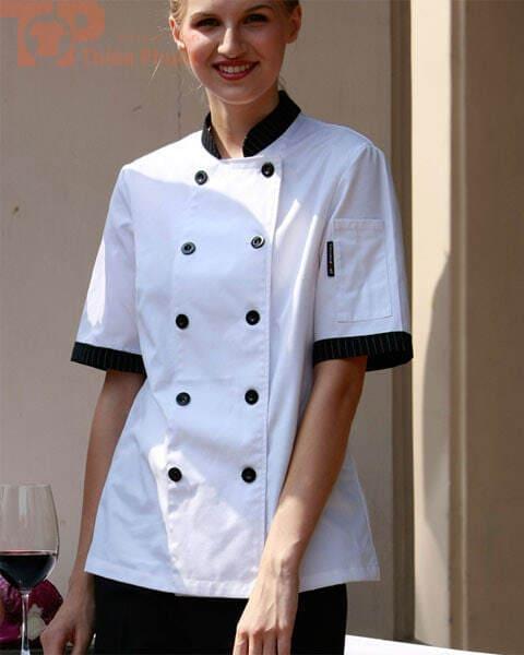 Áo bếp trưởng cho nữ