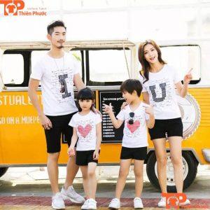 áo cặp gia đình 4 người đi du lịch