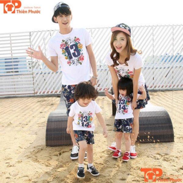 áo cặp gia đình 4 người mùa hè