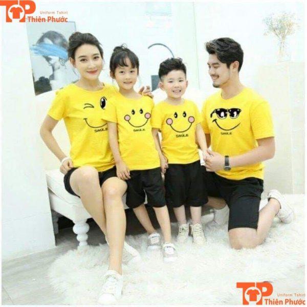 áo cặp gia đình đồng phục 4 người