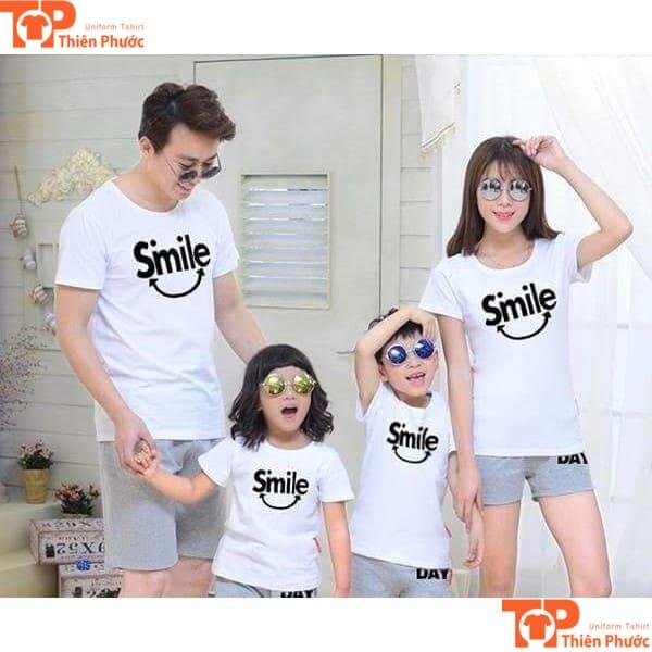 áo cặp gia đình thu đông 4 người tay ngắn