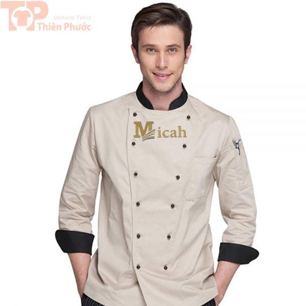 Áo đầu bếp cho nam