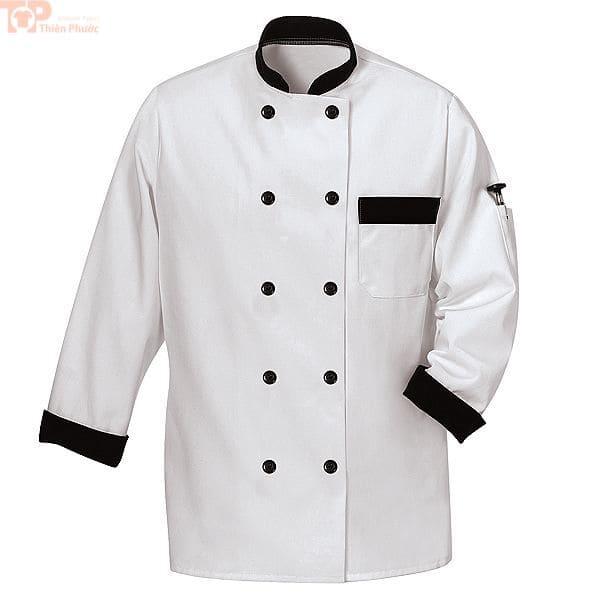 Áo đầu bếp có túi