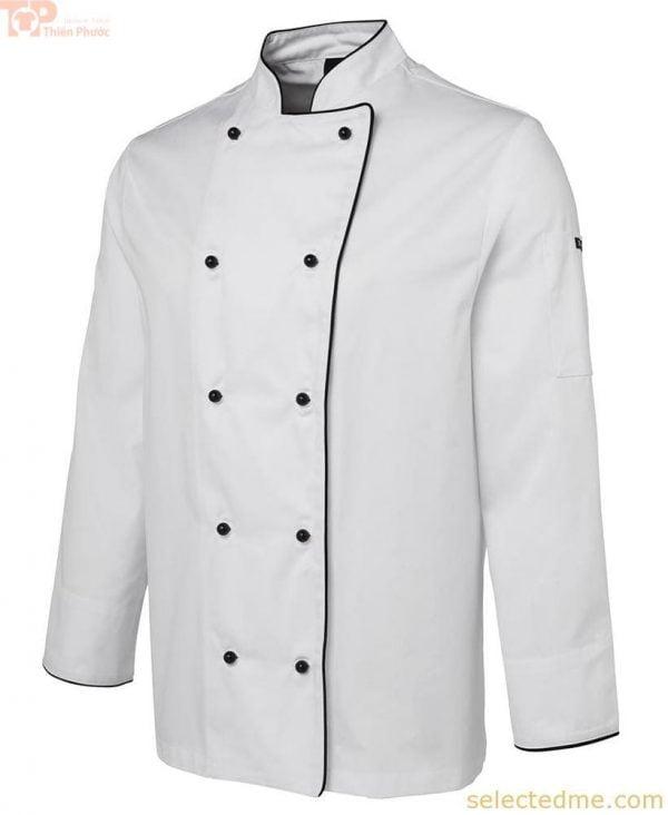 Áo đầu bếp tay dài màu trắng