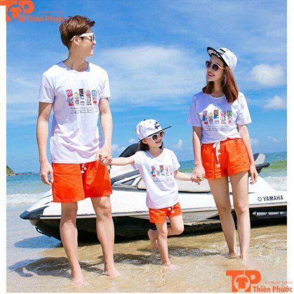 áo đi biển cho gia đình 3 người
