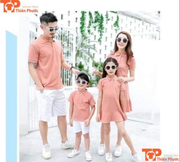 áo đôi gia đình 4 người tay ngắn