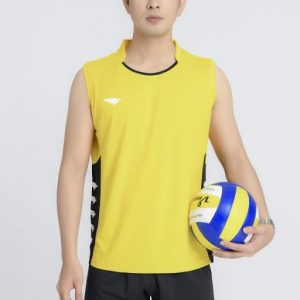 áo đồng phục bóng chuyền thể thao nam màu vàng