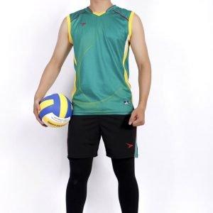 áo đồng phục bóng chuyền thể thao nam xanh lá