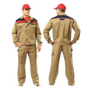 áo đồng phục công nhân điện lực màu nâu vàng