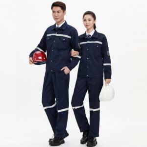 áo đồng phục công nhân màu xanh đen