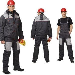 áo đồng phục công nhân xây dựng màu xám
