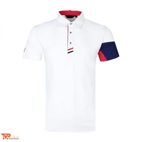 áo đồng phục công ty có cổ màu trắng