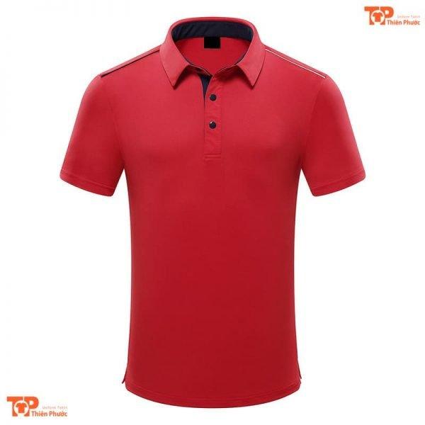 áo đồng phục công ty đẹp màu đỏ