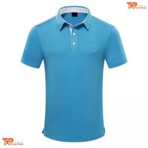 áo đồng phục công ty đẹp màu xanh dương