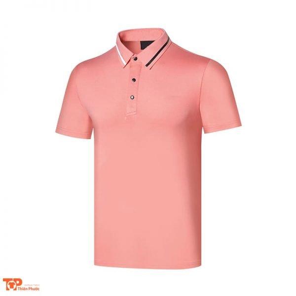 áo đồng phục công ty nam màu hồng