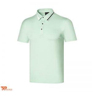 áo đồng phục công ty nam màu xanh lá