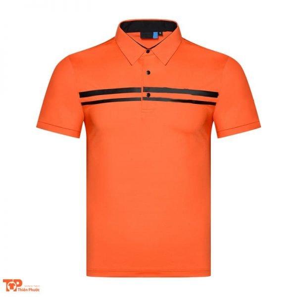 áo đồng phục công nam ngắn tay màu cam