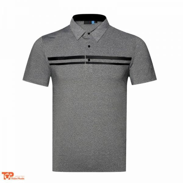 áo đồng phục công ty nam ngắn tay màu xám
