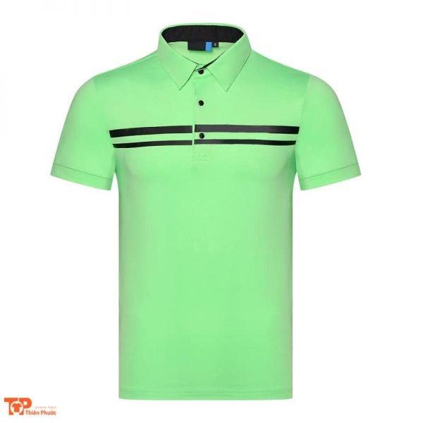 áo đồng phục công ty nam tay cộc màu xanh lá