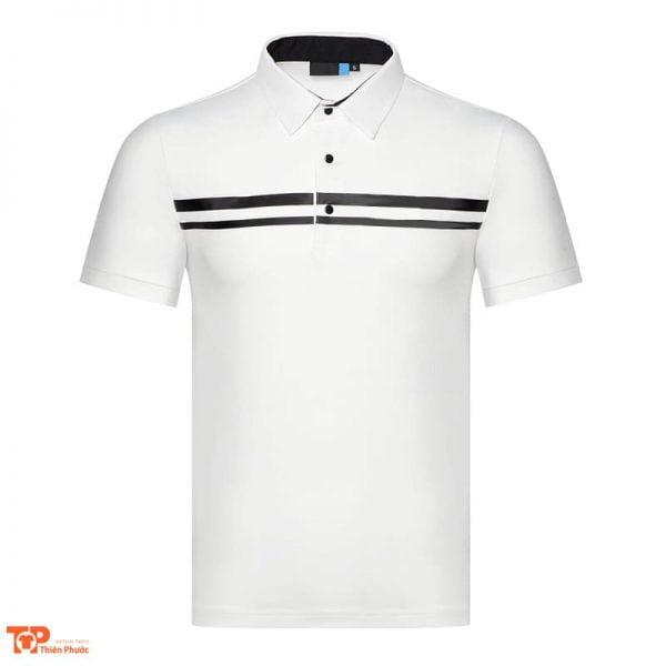 áo đồng phục công ty nam tay ngắn màu trắng